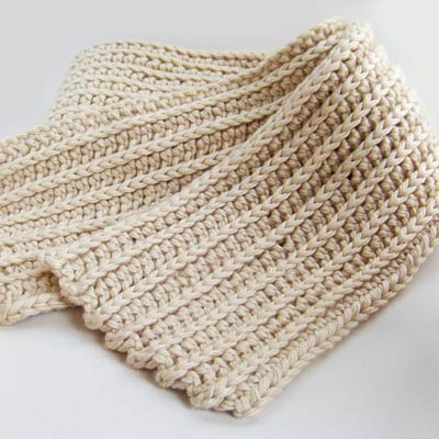 Crochet Like Knitting : Crochet Ribbed Scarf. It?s like knitting, only better! JennOzkan