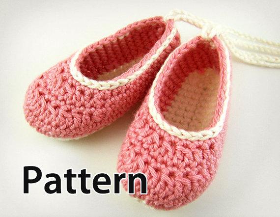 Crochet Pattern ? Baby Ballet Booties JennOzkan