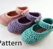 Crochet Pattern - Baby Mary Jane Booties