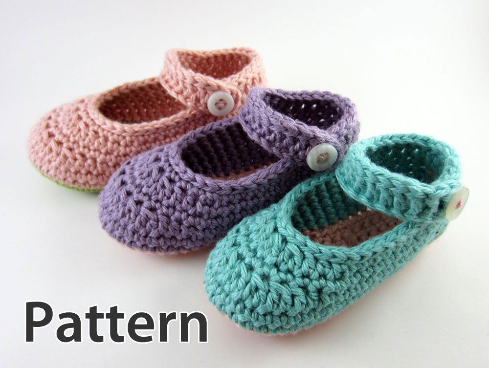 Free Crochet Patterns For Girl Booties : Crochet Patterns For Baby Booties Mary Janes images
