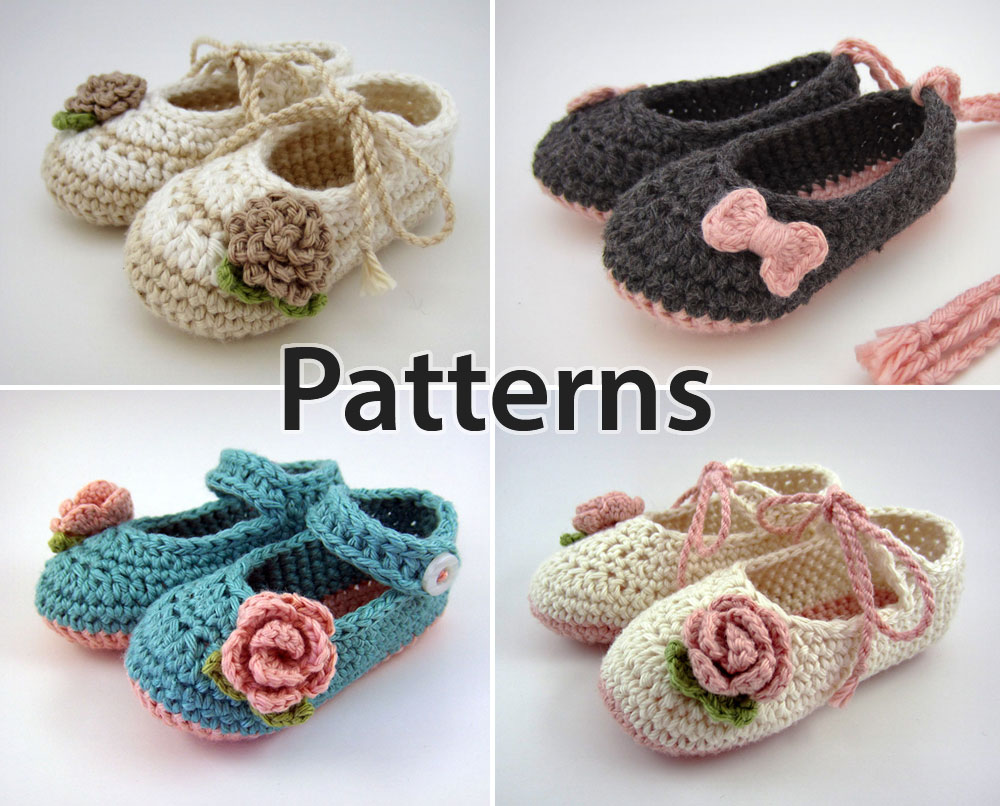 Home / Crochet Patterns / Crochet Pattern Bundle – Baby Booties and ...